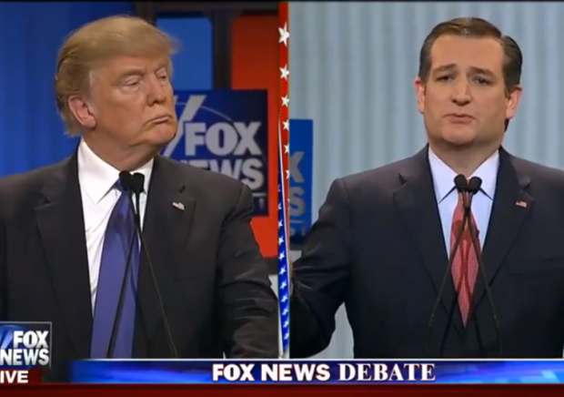 Fox News Debate 3-3-2-16 Trump Cruz