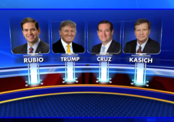 GOP Debate Rubio Trump Cruz Kasich