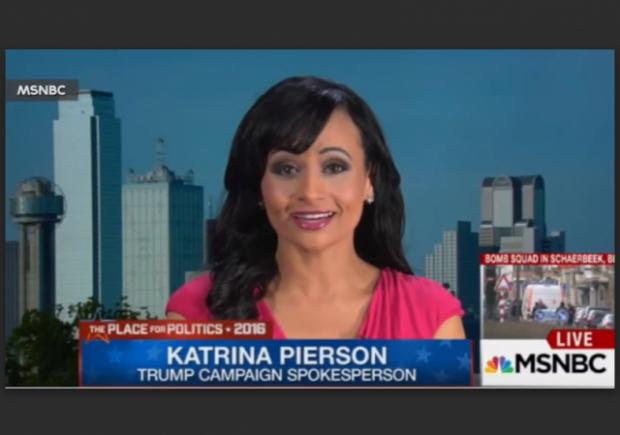 Katrina Pierson MSNBC Spills Beans w border