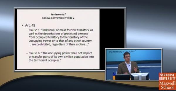 Kontorovich, SU Talk, Geneva Conv Art 49