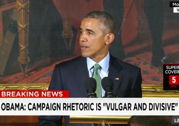 Obama 2016 Rhetoric Divisive