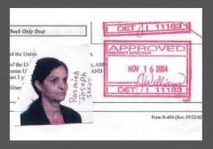Rasmea Odeh Naturalization Application Photo w border