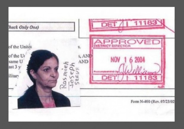Rasmea Odeh Naturalization Application Photo w border