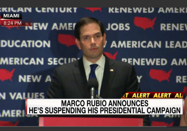 Rubio Florida Concession Speech Campaign Suspended