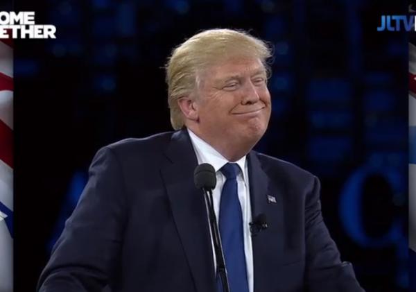 Trump AIPAC Smile