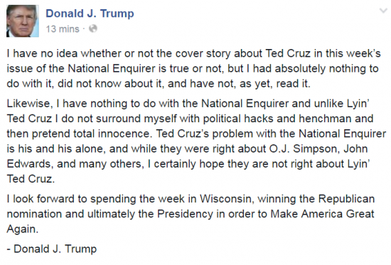 Trump Facebook Cruz National Enquirer 3-25-2016
