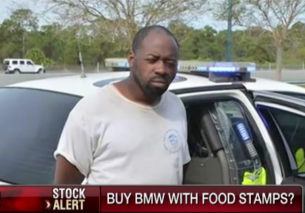 florida man tries to buy $60,000 bmw with food stamp card