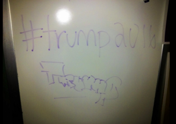 scripps college donald trump emory college chalking protest freedom of expression free speech