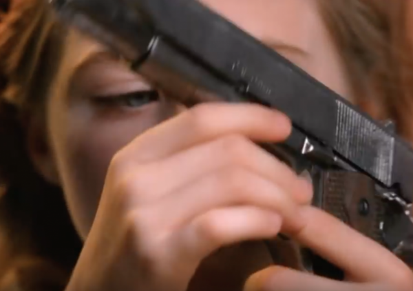 Alice in Wonderful Shoots Herself in the Face in New Anti-Gun Ad brady campaign nra fairy tales amelia hamilton