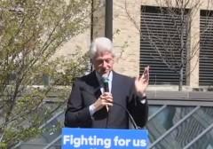 Bill Clinton Bernie Fans Wall Street