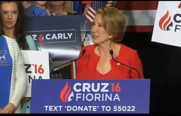 Carly Fiorina Announcement Cruz VP