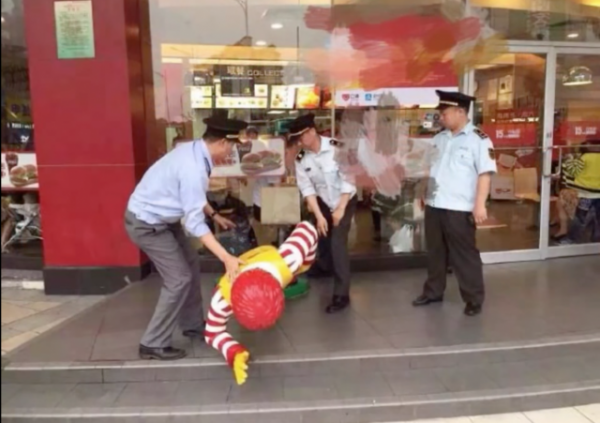 China Arrests Statue of Ronald McDonald