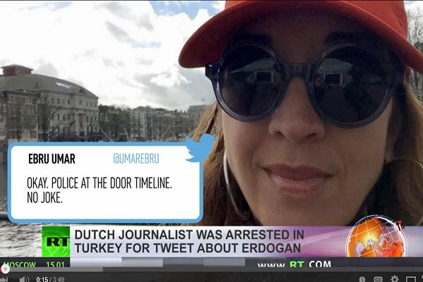 Dutch journalist arrested for tweets in Turkey