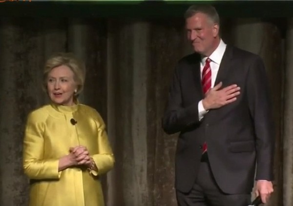 Hillary and de Blasio