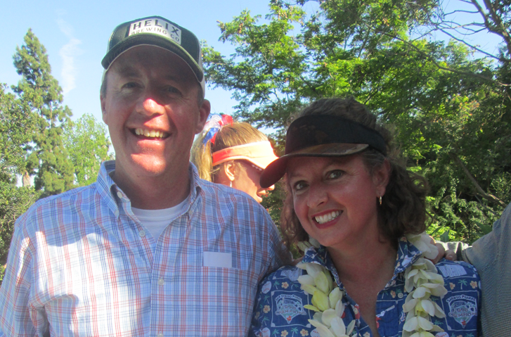 Congressional candidate Jim Ash and his wife, Carrie.