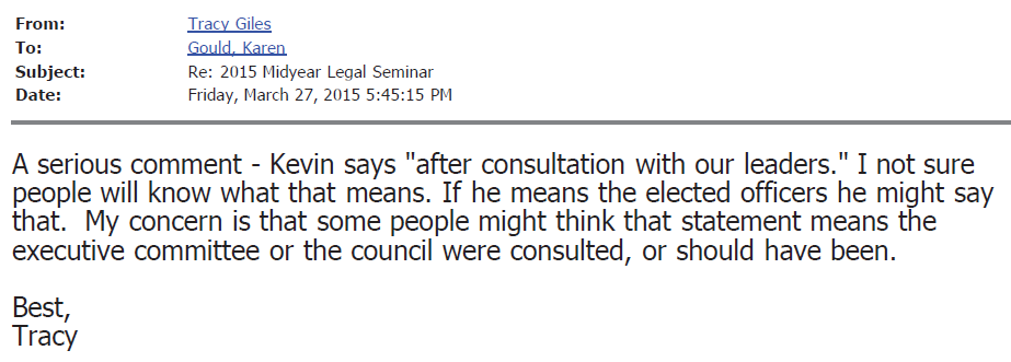 VSB Email 3-27-2015 545 No consult w Exec Committee or Council