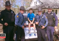 When No One Came to This 10-Year-Old's Birthday Party, State Troopers Surprised Him