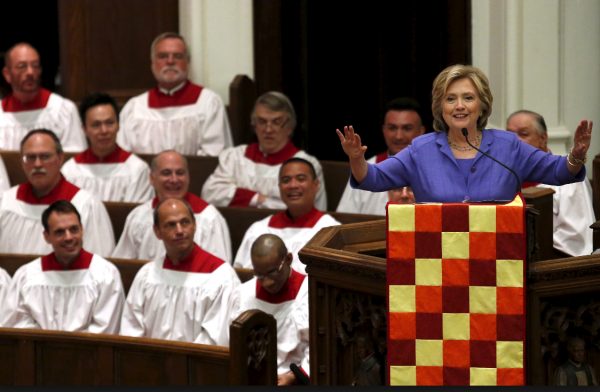 Hillary Clinton Celebrates Bicentennial of her Washington, D.C. Church | September 2015 | Credit: PBS NewsHour