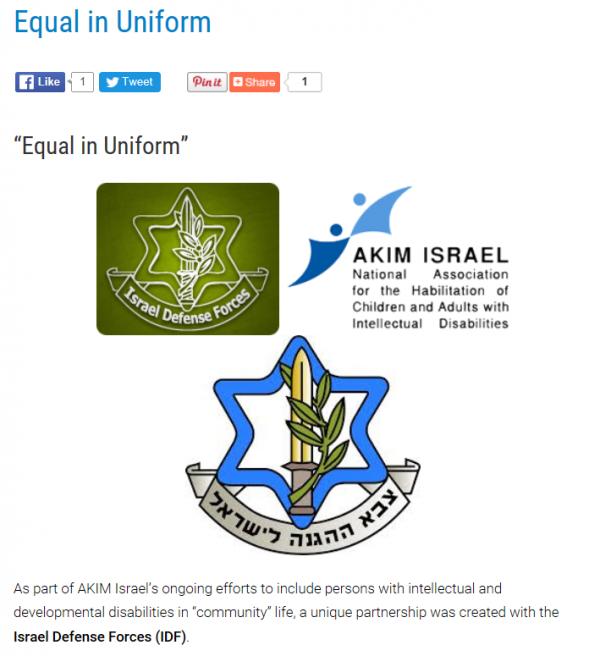 Equal in Uniform, IDF logos