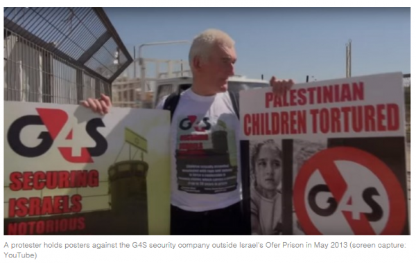 G4S protest