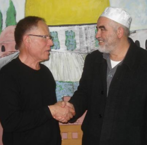 Hassan Fouda (left) and Raed Salah   credit: @AnarchoZionist