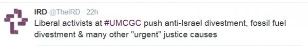 IRD, what liberals push at UMCGC 2016