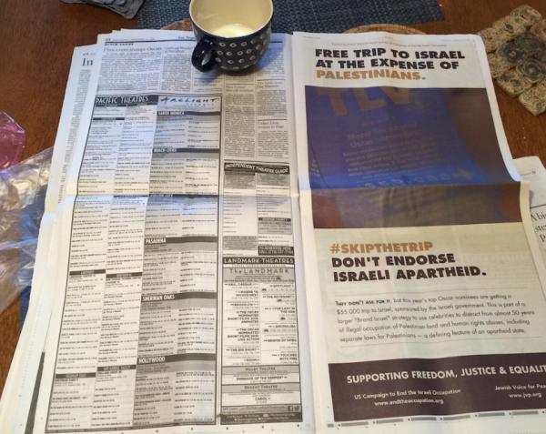 JVP ad in LA Times