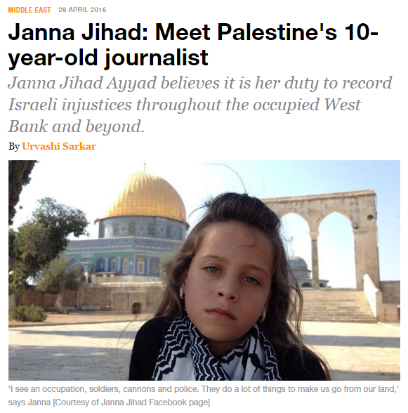 http://www.aljazeera.com/news/2016/04/janna-jihad-meet-palestine-10-year-journalist-160426132139682.html?
