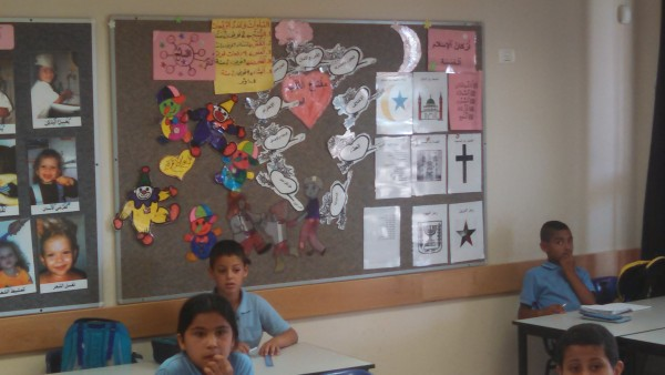 Khawaled Ras Ali Village School Classroom Bulletin Board