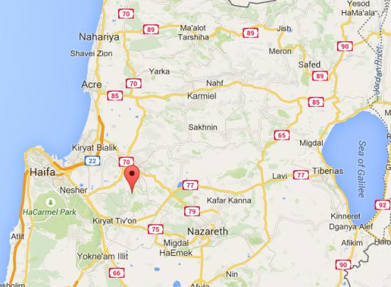 Khawaled Village Northern Israel Map