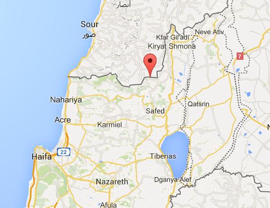 Moshav Avivim Map Region