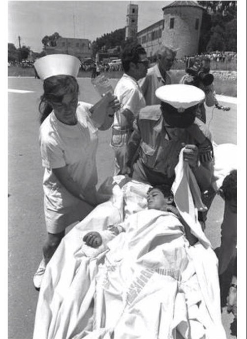 Moshav Avivim Shimon Biton Carried on Stretcher  Nurse