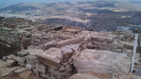 Mount Gerizim - Samaritan Ruins overlooking Nablus and Balata Refugee Camp