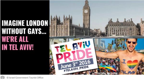 Pride Week TLV controversial London ad