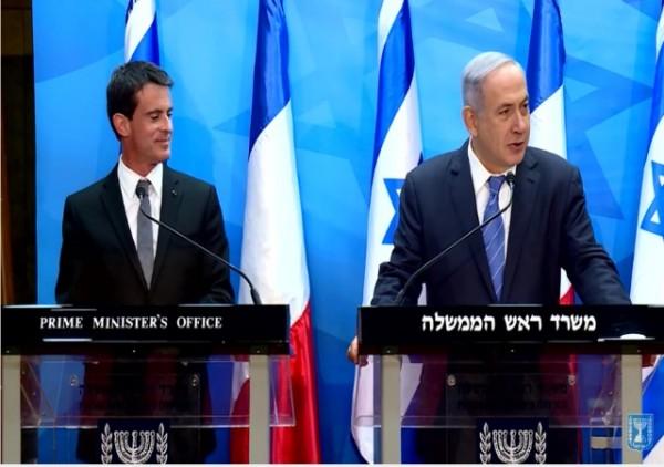 Valls Meets Netanyahu