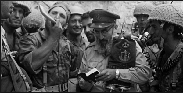 Chief Military Rabbi Goren at the Western Wall | June 7, 1967 | Credit: BreakingIsraelNews