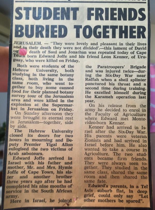 Edward Joffe Leon Kanner Newspaper Friends Buried Together