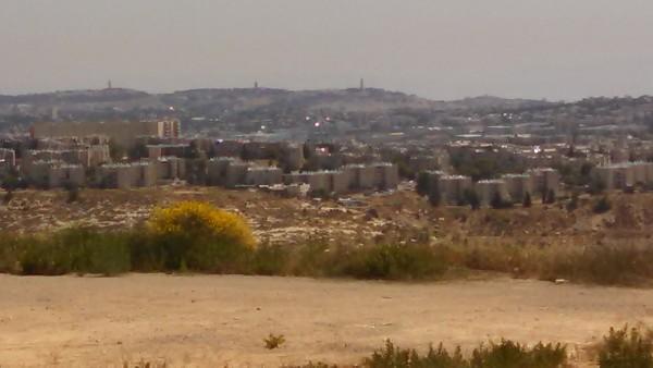 Israel Jerusalem Gilo from HarGilo HaMirpeset lookout point zoom