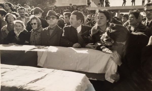 Kanner Mother and Sisters at Funeral