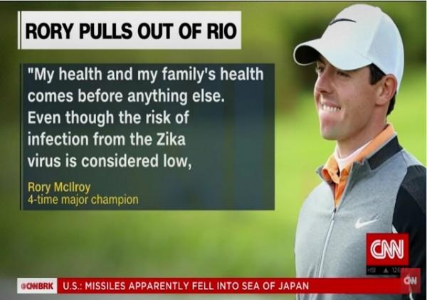 McIlroy Zika Olympics