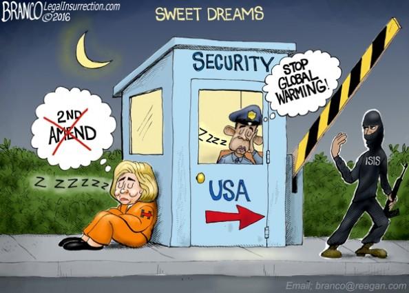 Obama Hillary Asleep