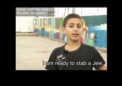UNRWA Film I Am Ready To Stab A Jew w border