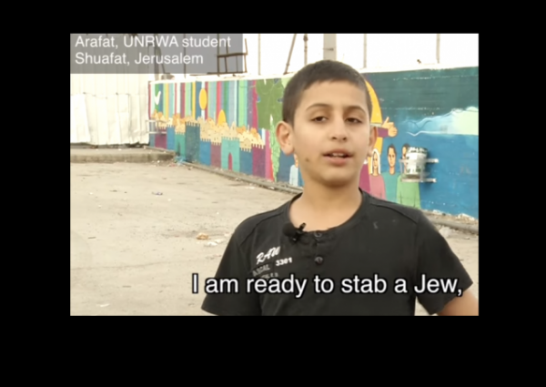 UNRWA Film I Am Ready To Stab A Jew w border