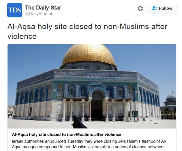 Al Aqsa closed to non Muslims