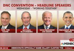 DNC speaker lineup