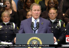 George W. Bush's Remarks at Dallas Police Officer Memorial Ceremony Were a Welcomed Change