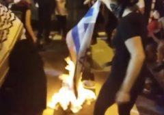 Israeli Flag burning DNC