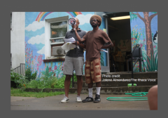 Ithaca Black Lives Matter  July 8 2016 Dubian Ade Russell Rickford photo credit w border