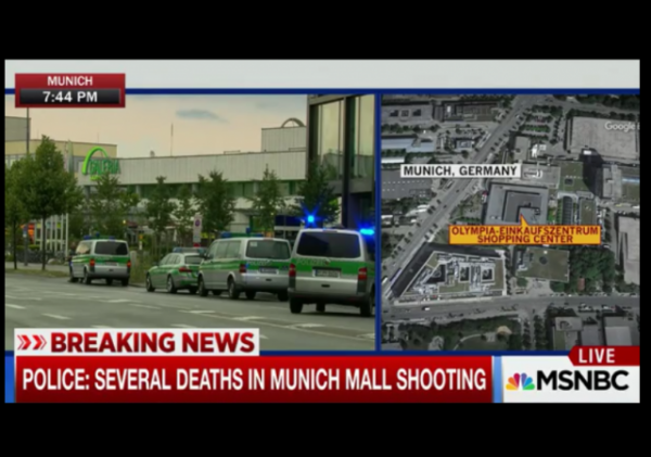 Munich shopping mall shooting msnbc w border