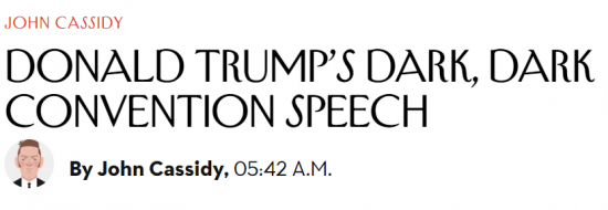 New Yorker Trump Dark Speech